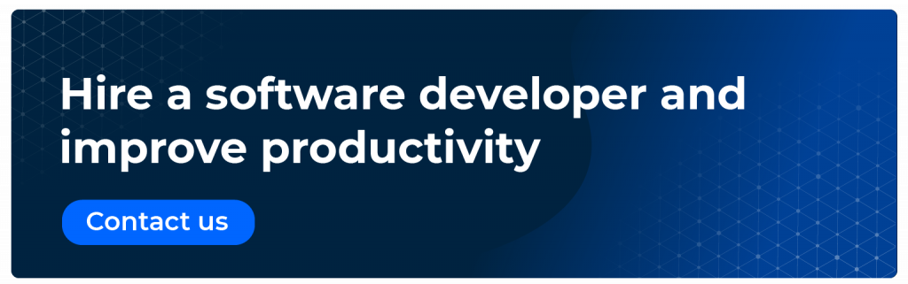 Hire a software developer and improve productivity