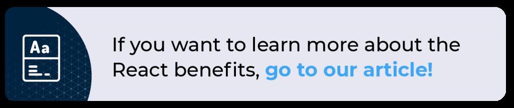 React benefits