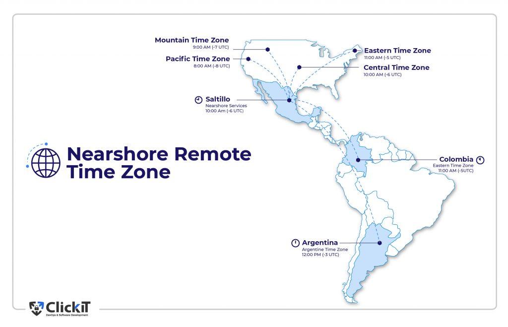 nearshore remote time zone